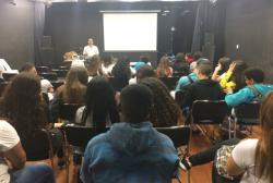notícia - Alunos da rede pública recebem orientação nutricional na Coordenadoria da Juventude