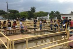 notícia - Alunos do projeto Agente Jovem Ambiental conhecem estação de tratamento de água