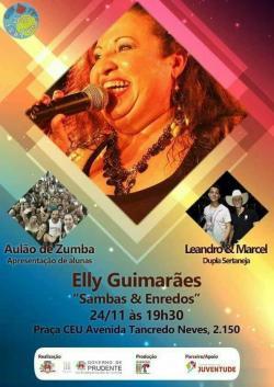 notícia - Elly Guimarães apresenta Samba & Enredo no CEU da Zona Leste